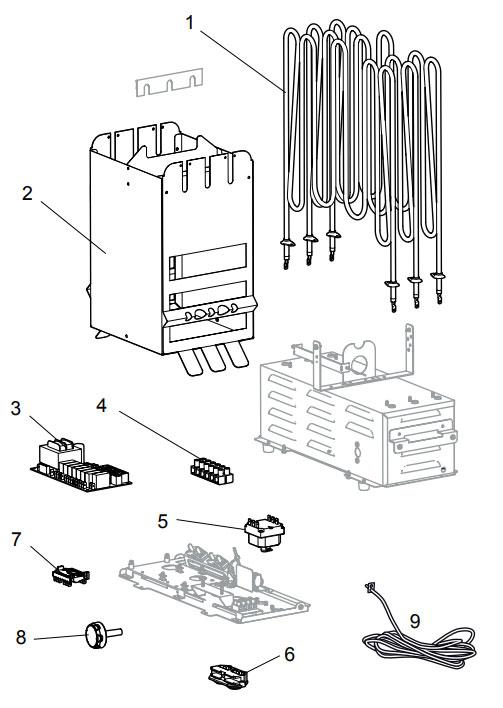 Деталировка электрической печи для сауны Tylo Sense Elite 10: