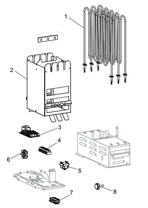 Деталировка электрической печи для сауны Tylo Sense Pure 10: